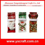Christmas Decoration (ZY16Y270-1-2-3 33.5X13.5CM) Christmas Wine Craft Bag Item