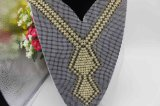 Custom Size Crystal Rhinestone Lace Applique Neckline CZ Necklace for Dress (TA-026)