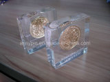 Acrylic Paper Weight with Coin Embedment