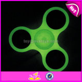 Top Sale Fluorescent Light Fidget Spinner Stress Relief Hand Spinner with Bearing W01b070