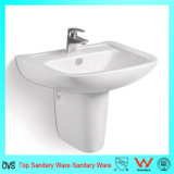 Sanitary Ware Wall Mounted Ceramic Water Wall-Hung Half Pedestal Basin