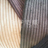 Polyester and Nylon Corduroy Fabric 6-28 Wales for Home Textile