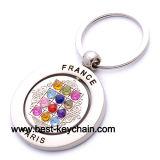 Souvenir France Metal Paris Gift Crystal Keychain (BK52276)