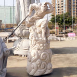 Modern Carved Monkey King Granite Stone Statue Sculpture for Sale