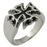 High Quality New Model Silver Ring Imitation Fashion Cross Ring