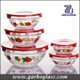 5PCS Storage Bowl Set, Salad Bowl Set with High Quality Plastic Lids Packed Into Color Box