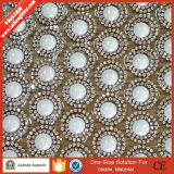 2016 Tailian Strass Motif Hotfix Crystal Rhinestone with 8mm Round Pearls Beads Net Sheet Mesh