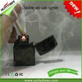 2016 Best Selling Cigarette Smoking USB Double Arc Lighter