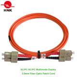 3.0mm SC/PC-SC/PC Duplex Multimode 62.5 Om1 Fiber Optic Patch Cord