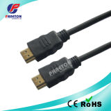 Black HDMI Cable with Ethernet 1.4V Golded Plated 1.5m
