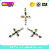 Popular Cross Pendant Charms with Colorful Stone