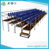 3 Row Outdoor Bleachers Seats with Waterproof Plywood Plank