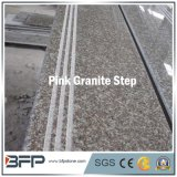 Polished China Pink Stone/Granite Step/Stairs/Treadle for Floor