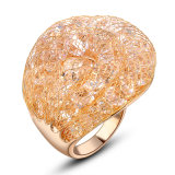Fashion Yellow Gold Plated Color Crystal Ring for Women