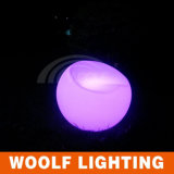 Plastic Glowing LED Round Lounge Chair
