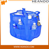 Blue Mesh Diaper Beach Wash Bag Organizer for Mom