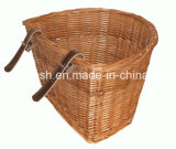 Common Use Medium Wicker/Willow Basket for Classic Pedelec/Electric Bike/E Bike/Bicycle
