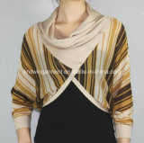 Women Knitted V Neck Fashion Clothes with Buttons (11SS-103)