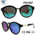 Round Shape Polarized Lens Unisex PC Material Plastic Sunglasses (PS1097)