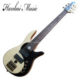 Hanhai Music / 6 Strings Electric Bass Guitar with Gold Hardware