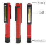 Bright Mini LED Inspection Light Lamp Pen Shape Pocket Clip Work Hand Torch Flashlight