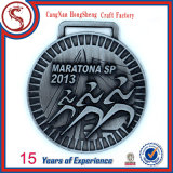 Custom Cut out Antique Silver Finish Medallion