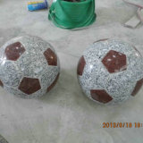 Chinese Natural Stone Granite Football Carving
