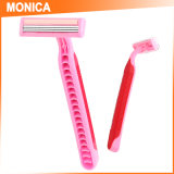 Monica Hair Salon Use Plastic and Stainless Steel Shaving Blade