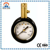"""1.5"""" Tire Pressure Gauge with Brass Case, Rubber Boot Protected, 0 to 160 Psi, Release Button"""