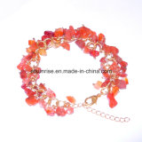 Natural Man Women Gemstone Crystal Beaded Carnelian Jewelry Bracelet Bangle