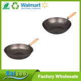 Professional Deep Non-Stick Frying Pan with Wood Handle