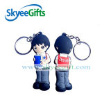 Stylish PVC Keychains, Made of Quality PVC, Various Shapes Available