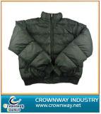 Warm Cotton-Padded Qulites Black Jacket for Men (CW-PJ-32)