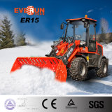 New-Designe Agricultural Mini Wheel Loader Er15 with Hydraulic-Pressure Check System