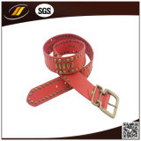 Fashion Red Rivet Lady's Genuine Leather Belt (HJ1978)