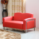 Red Leather Public Office Hotel Lobby Waiting Sofa (SP-KS334)