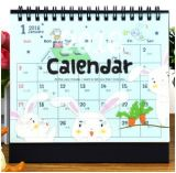 Cute Cartoon Desktop Calendar, Transparent Cover DIY Calendar