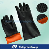 Flocklined Industrial Latex Glove with Competive Price and Best Service