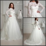 Lace Bridal Ball Gowns Muslim Sleeves Wedding Dresses H1012