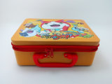 New Arrival High Fashion Decorated Lunch Tin Box with Zip