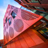 Red Color Perforated Aluminum Panel Fo Wall Cladding