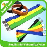 Promotional Gift Wholesale Rubber Bracelet USB Flash Drive (SLF-RU011)