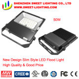 New Super Slim Top Quality 50W LED Flood Light with 5 Years Warranty