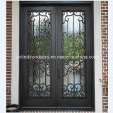 Square Top Double Iron Entry Door (UID-D018)