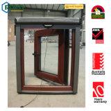 Double Glazing Wood Color UPVC Window and Door