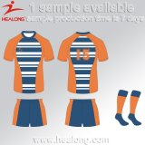 Healong Biggest Factory Sublimated Printing Rugby Jersey