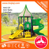 Natural Outdoor Commercial Kids Playground Plastic Slides