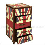 Classic Style London Canvas Wooden Cabinet with 5 Drawers