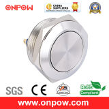 Onpow 19mm Metal Pushbutton Switch (GQ19SF-10/J/S, CCC, CE, RoHS Compliant)
