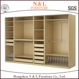 Wood Bedroom Furniture Walk-in Wooden Wardrobe with Melamine Finished